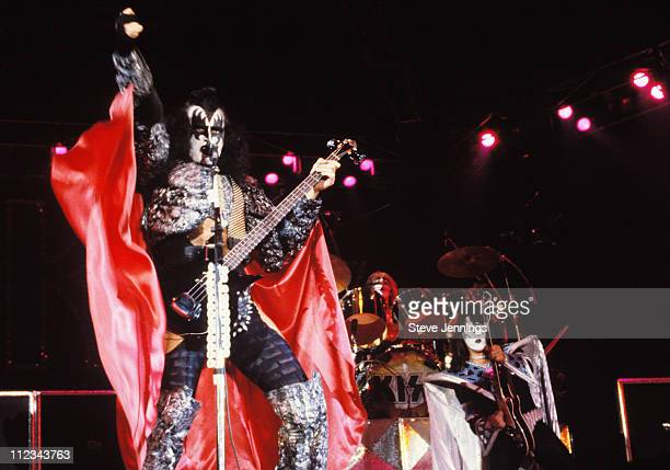 Gene Simmons Peter Criss and Ace Frehley of Kiss in San Francisco 1979