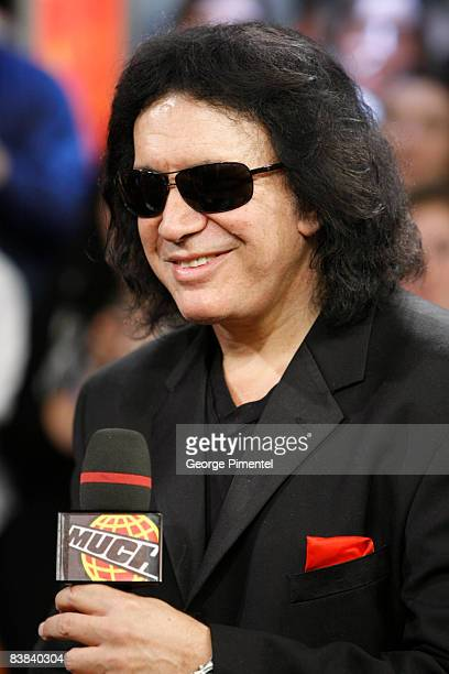 Gene Simmons visits MuchOnDemand for a live interview at the MuchMusic HQ on November 26, 2008 in Toronto, Canada.
