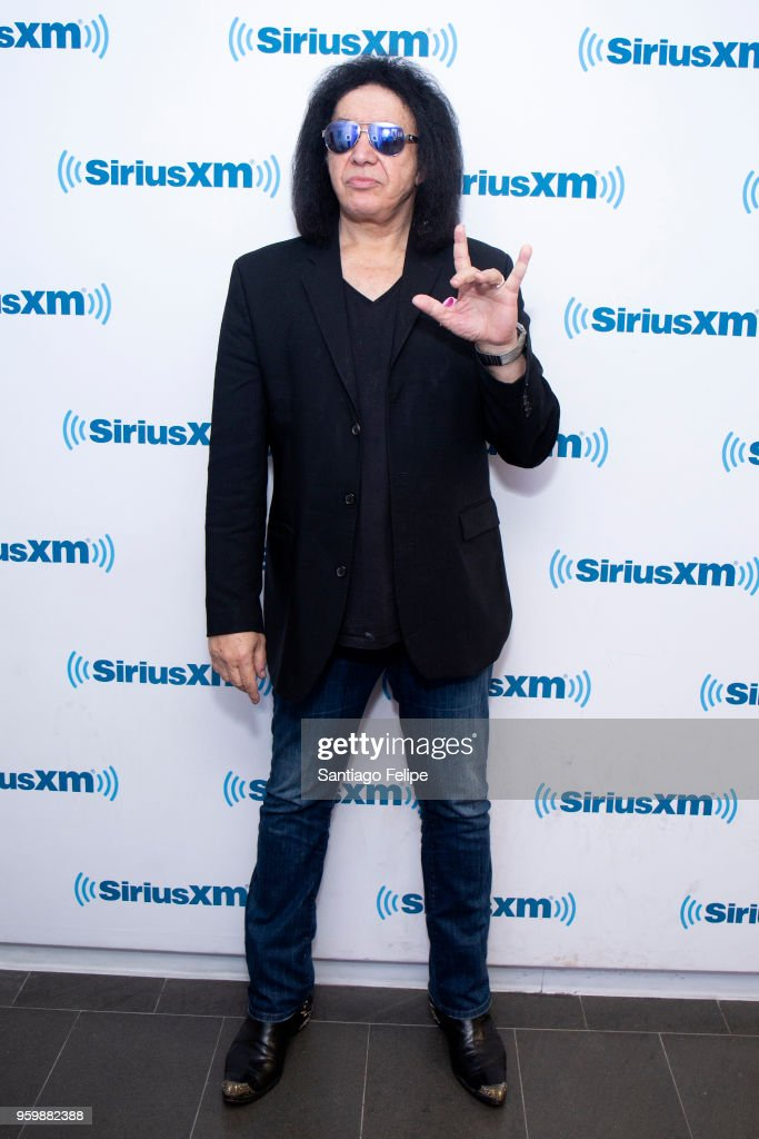 Gene Simmons visits SiriusXM Studios on May 18, 2018 in New York City.