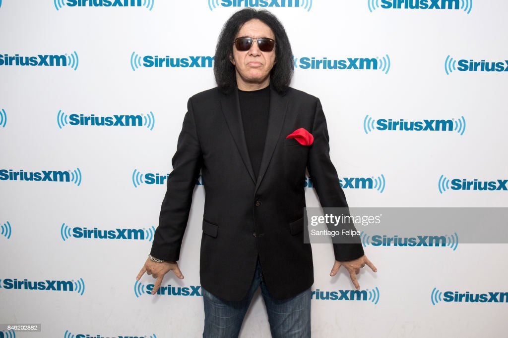 Gene Simmons visits SiriusXM Studios on September 12, 2017 in New York City.