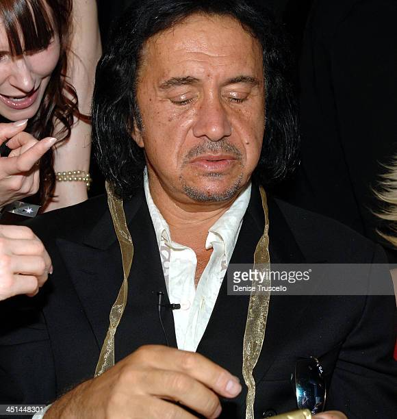 Gene Simmons with Friend during Gene Simmons' Birthday Party August 25 2005 at The Palms Hotel and Casino Resort in Las Vegas Nevada