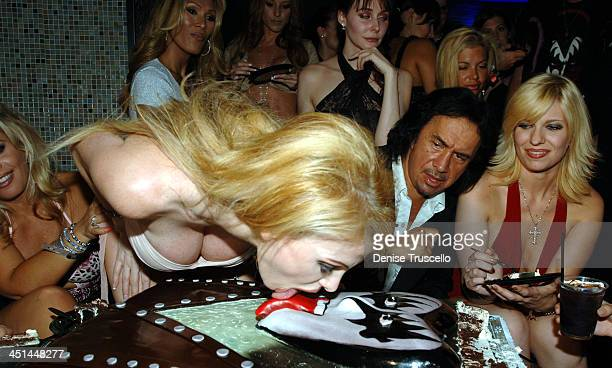 Gene Simmons with Friends during Gene Simmons' Birthday Party August 25 2005 at The Palms Hotel and Casino Resort in Las Vegas Nevada