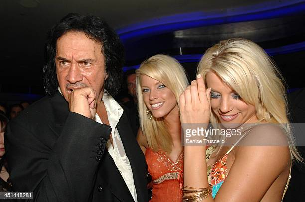 Gene Simmons with The Palms Girls during Gene Simmons' Birthday Party August 25 2005 at The Palms Hotel and Casino Resort in Las Vegas Nevada