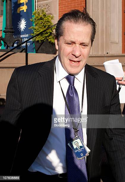 Gene Sperling counselor to US Treasury Secretary Tim Geithner arrives for a meeting with US President Barack Obama and other business leaders at...