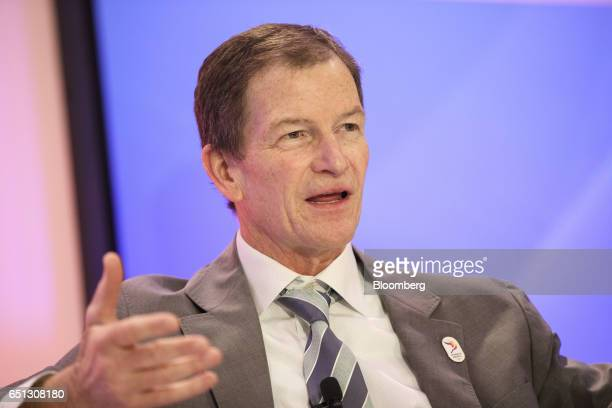 Gene Sykes chief executive officer of Olympics LA 2024 speaks during the Montgomery Summit in Santa Monica California US on Thursday March 9 2017 The...