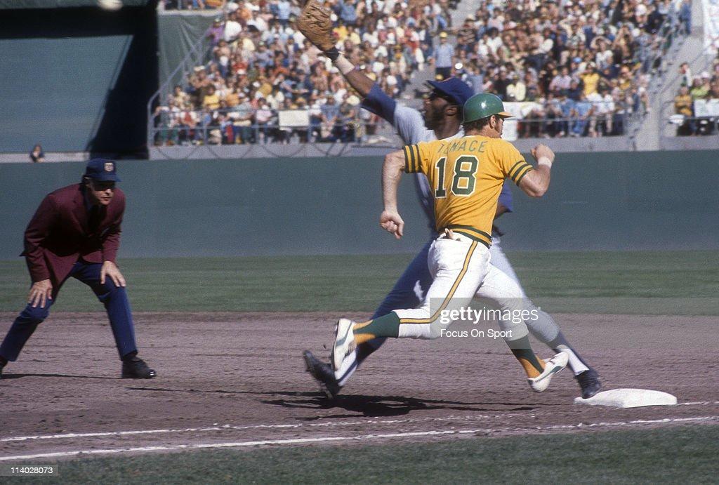 World Series: New York Mets v Oakland Athletics, October, 1973 : Nieuwsfoto's