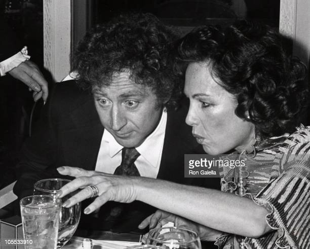 Gene Wilder and Guest during 'Silver Streak' Premiere Party December 7 1976 at Tavern on the Green in New York City New York United States
