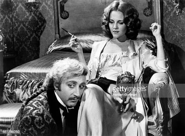 Gene Wilder and Madeline Kahn in a scene from the movie Young Frankenstein