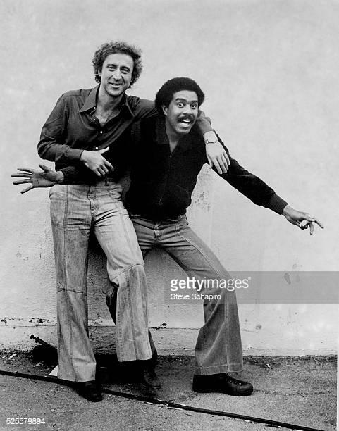"Gene Wilder and Richard Pryor on the set of ""Silver Streak."""