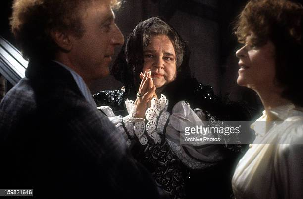 Gene Wilder, Dom DeLuise and Gilda Radner in a scene from the film 'Haunted Honeymoon', 1986.