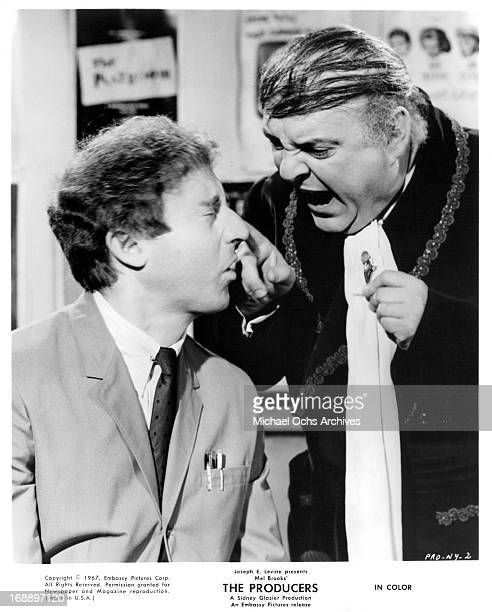 Gene Wilder is yelled at by Zero Mostel in a scene from the film 'The Producers', 1968.