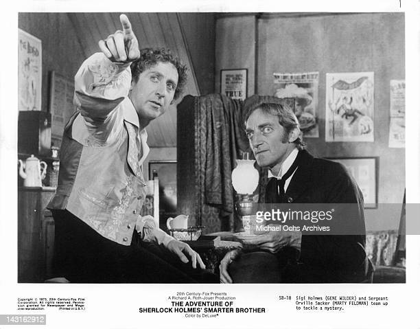 Gene Wilder points something out to Marty Feldman in a scene from the film 'The Adventure Of Sherlock Holmes' Smarter Brother' 1975