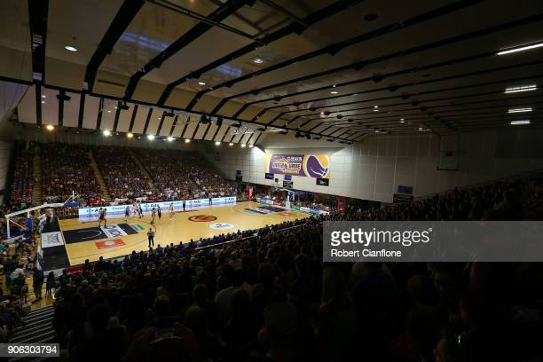 A geneal view during game two of the WNBL Grand Final series between the Melbourne Boomers and the Townsville Fire at the State Basketball Centre on...