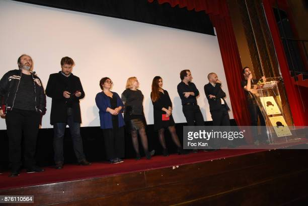 A geneal view of atmosphere with the Cours Charlie 2017 Jury during 'Cours Charlie Courts' Short Movies Festival at Cinema Chaplin Saint Lambert on...