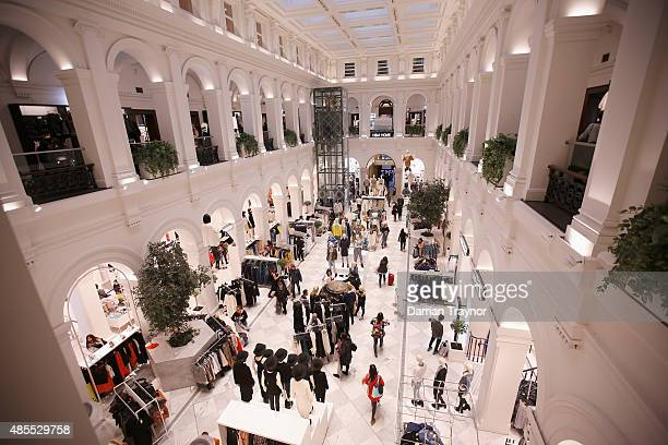 A geneal view of people shopping during Vogue Fashion's Night Out on August 28 2015 in Melbourne Australia