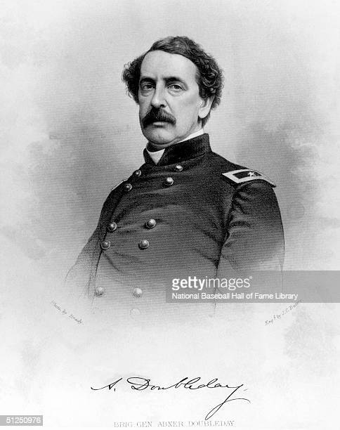 General Abner Doubleday poses for a portrait Abner Doubleday is recognized as the creator of baseball in Cooperstown New York in 1839
