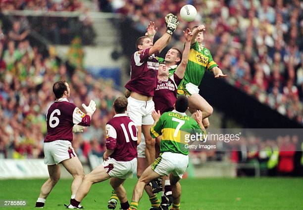 General action during the All-Ireland GAA Final between Galway and Kerry held at Croke Park,Dublin in the Republic of Ireland on the 24th of...