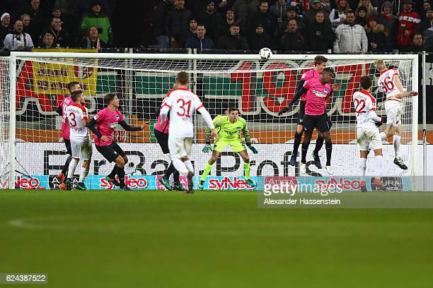General action during the Bundesliga match between FC Augsburg and Hertha BSC at WWK Arena on November 19 2016 in Augsburg Germany