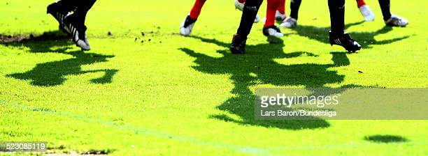 General action during the Bundesliga Play Off match between FC Energie Cottbus and 1.FC Nuernberg at the Stadion der Freundschaft on May 28, 2009 in...