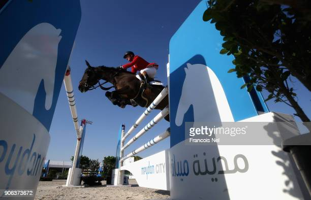 General action during the Dubai Show Jumping Championships on January 18 2018 in Dubai United Arab Emirates