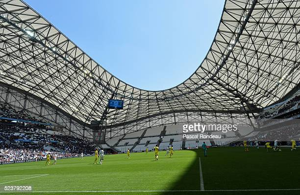 General action during the game between Olympique de Marseille v FC Nantes at Stade Velodrome on April 24 2016 in Marseille France