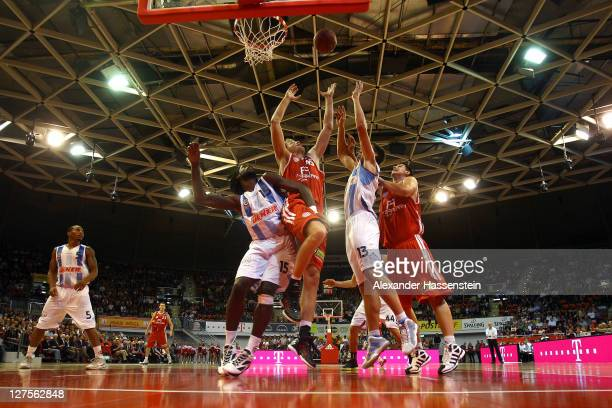 General action during the International Basketball friendly match between FC Bayern Muenchen and Fenerbahce Uelker at Audi Dome on September 29, 2011...