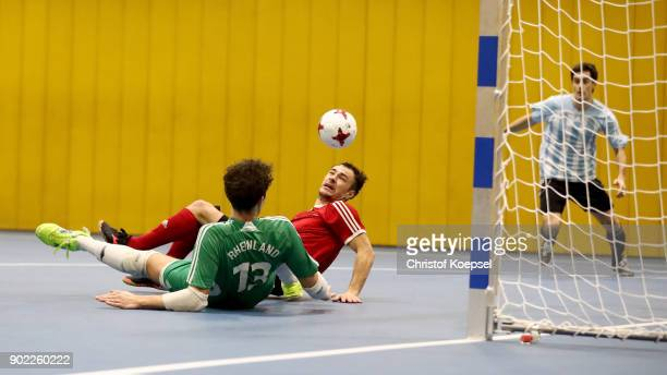 A general action during the match between Bavaria and Rhineland 22 of the DFB Futsal Federal Cup 2018 at Sport School Wedau on January 7 2018 in...