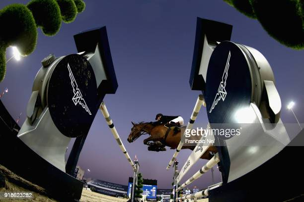 General action during the President of the UAE Show Jumping Cup at Al Forsan on February 15 2018 in Abu Dhabi United Arab Emirates