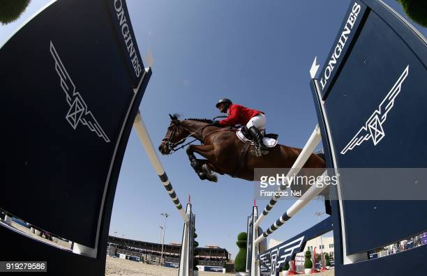 General action during the President of the UAE Show Jumping Cup at Al Forsan on February 17 2018 in Abu Dhabi United Arab Emirates