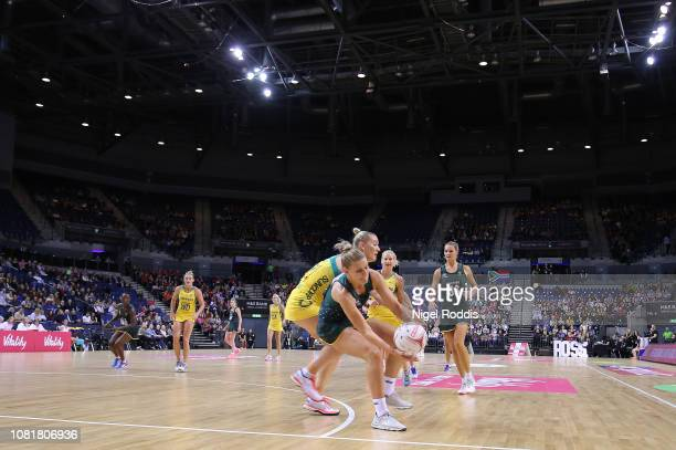 General action during the Vitality Netball International Series match between South Africa and Australian Diamonds as part of the Netball Quad Series...