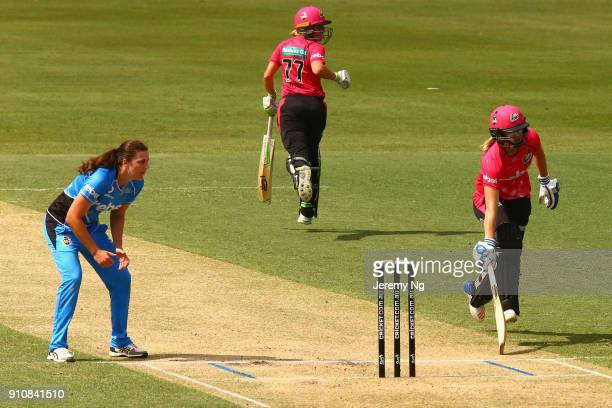 General action during the Women's Big Bash League match between the Adelaide Strikers and the Sydney Sixers at Hurstville Oval on January 27 2018 in...