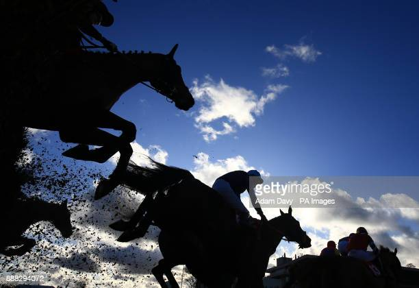 General action from the Holiday Inn Shepperton Amateur Riders' Handicap Steeple Chase during day one of the Betfair Tingle Creek Christmas Festival...