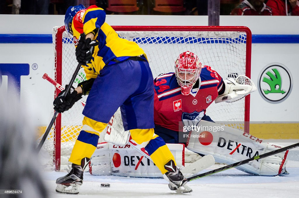 General Action Is Seen During The Champions Hockey League Round Of