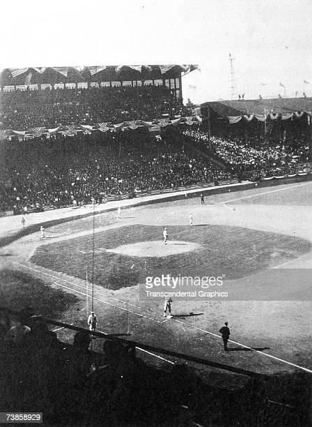 CHICAGO IL SEPTEMBER 511 1918 General action of the Boston Red Sox and Chicago Cubs during the 1918 World Series in September at Comiskey Park...