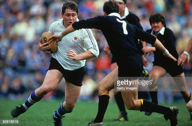 General action taken during the John Player Cup Final between Bath and Wasps held in April 1986 at Twickenham Stadium in London Bath won the match...