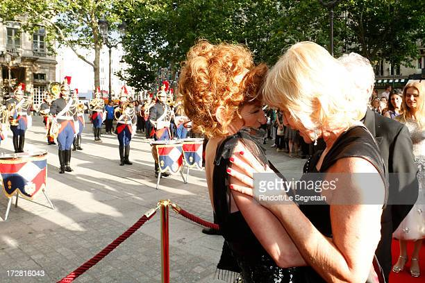 General administrator of Comedie Francaise Muriel Mayette and journalist Catherine Ceylac attend Le Grand Bal De La Comedie Francaise held at La...