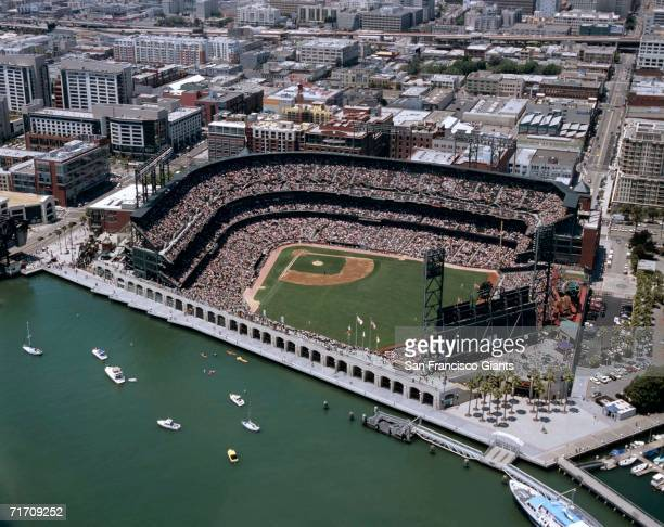 General aerial views of AT&T Park in San Francisco, California on July 14, 2006.