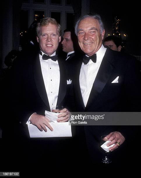 General Alexander Haig and son Alexander Haig Jr attend Ellis Island Medal of Honor Awards Gala on December 9 1990 at Ellis Island in New York City
