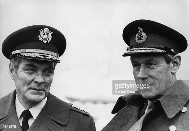 General Alexander Haig left NATO's Supreme Allied Commander in Europe with Field Marshal Sir Michael Carver at RAF Northolt
