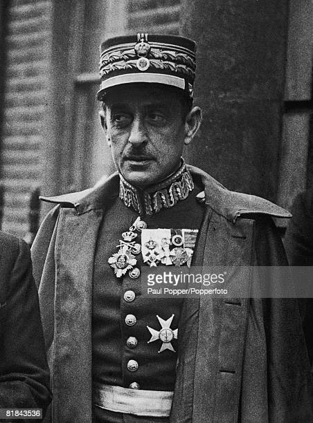 General Alexander Papagos the Greek CommanderinChief during the GrecoItalian War circa 1940