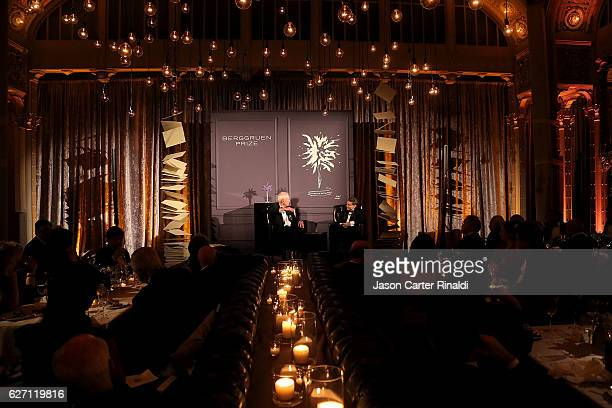 General ambiance at The Berggruen Prize Gala Honoring Philosopher Charles Taylor at New York Public Library Astor Hall on December 1 2016 in New York...