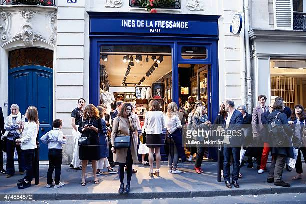 A general ambiance of atmosphere of the 'Ines De La Fressange' Boutique Opening on May 27 2015 in Paris France