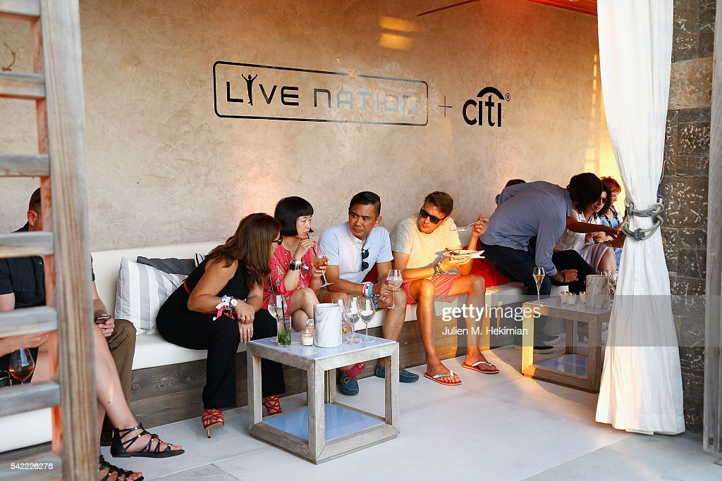 A general ambiance of atmosphere of the Live Nation And Citi Special Evening With Dave Grohl At Cannes Lions on June 22, 2016 in Cannes, France.