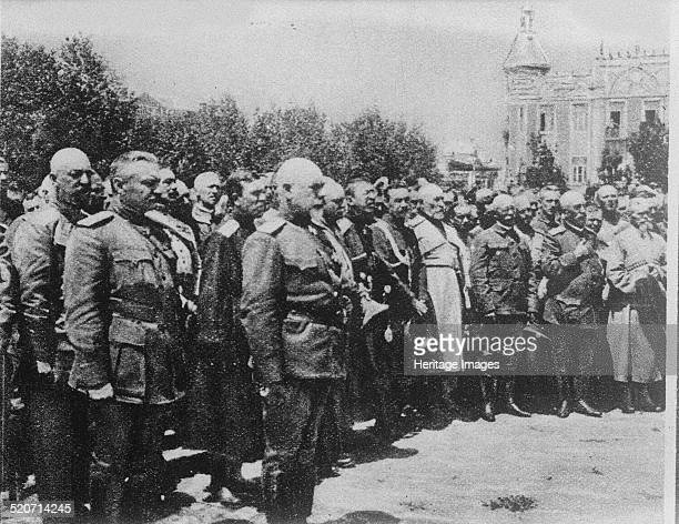 General Anton Denikin with his staff officers Private Collection