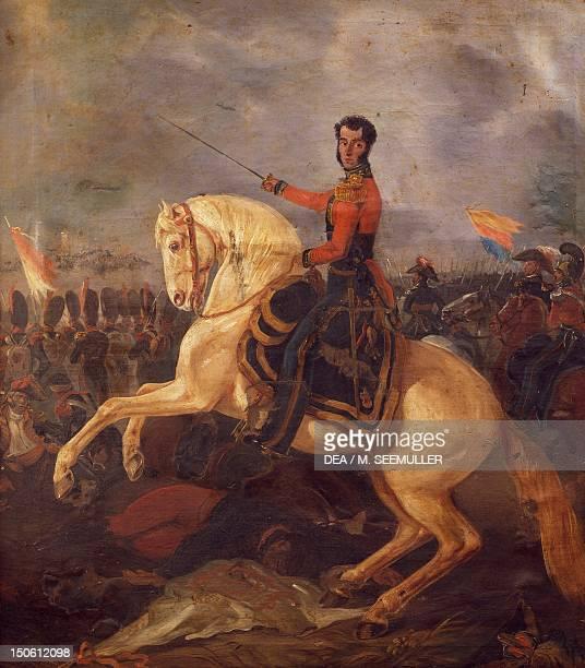 General Antonio Jose Sucre Venezuelan patriot at the battle of Ayacucho December 9 1824 Spanish American wars of independence Peru 19th century