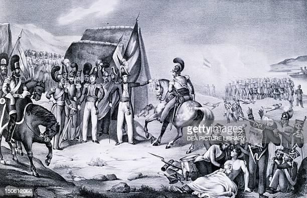 General Antonio Lopez de Santa Ana during the battle of Tampico 1829 Mexico 19th century