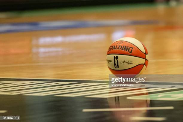 General arena view during the first half of the WNBA game between the Atlanta Dream and New York Liberty on June 19 2018 at Westchester County Center...