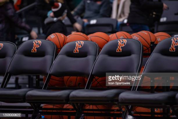 General arena view during the Ivy League college basketball game between the Harvard Crimson and Princeton Tigers on February 21, 2020 at Jadwin...