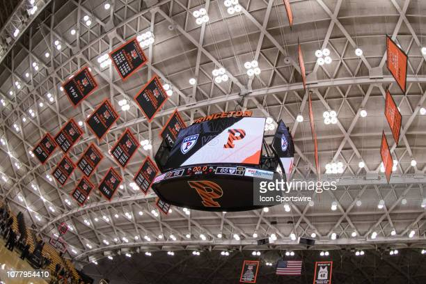 General arena view during the second half of the college basketball game between the Penn Quakers and Princeton Tigers on January 5 2019 at Jadwin...