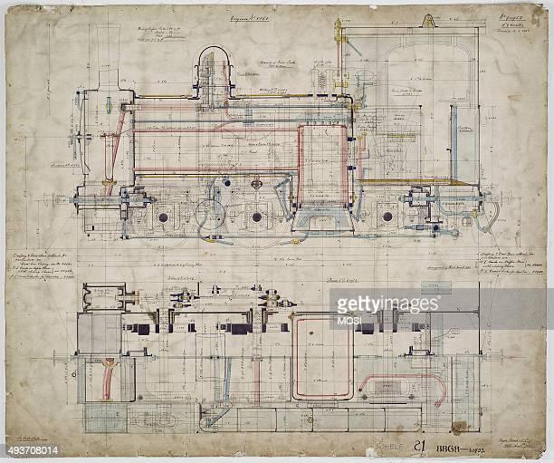 General arrangement drawing of Welshpool Llanfair Light Railway '060' tank locomotive circa 1905